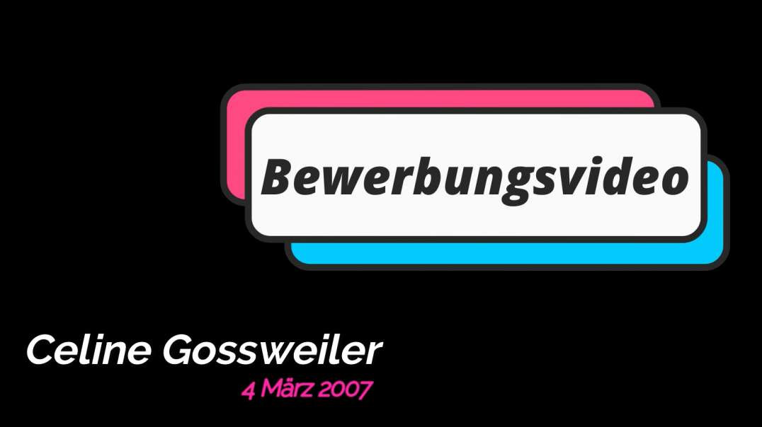 Bewerbungsvideo CelineV7